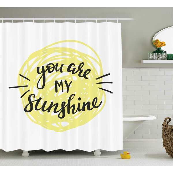 Hand Drawn Circle Quotes Decor Shower Curtain by East Urban Home