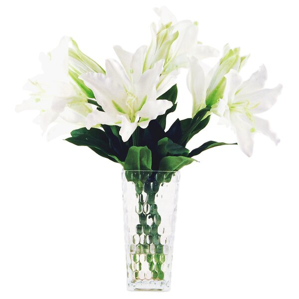 Casablanca Lilys in Glass Vase by LCG Florals