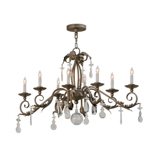 Nantucket 8 - Light Candle Style Empire Chandelier By Astoria Grand