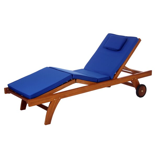 Humphrey Teak Chaise Lounge with Cushion