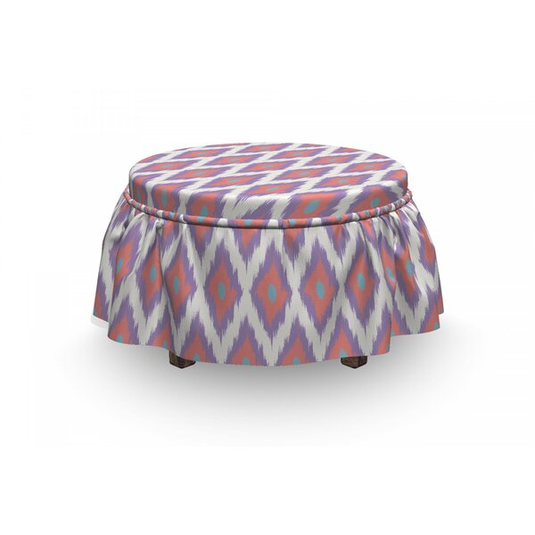 Classical Boho Pastel Tones Ottoman Slipcover (Set Of 2) By East Urban Home