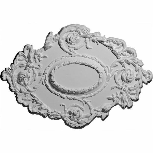 Lincoln Flowing Leaf 20 3/4H x 30 3/8W x 1D Ceiling Medallion by Ekena Millwork