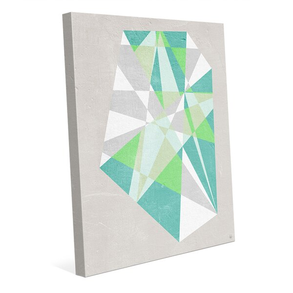 Turquoise Prism Graphic Art on Wrapped Canvas by Click Wall Art