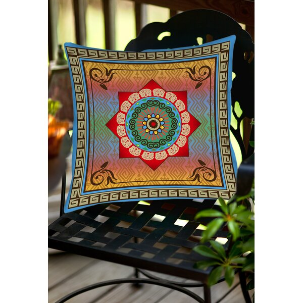 Mexican Summer Indoor/Outdoor Throw Pillow by Manual Woodworkers & Weavers