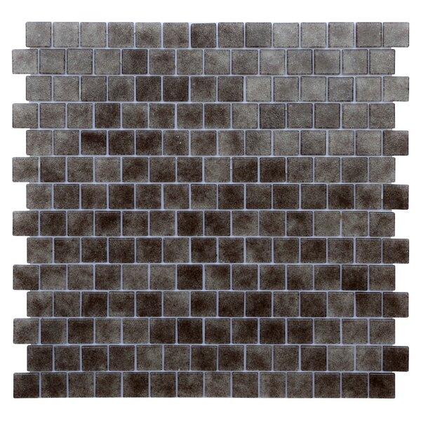 Quartz 0.75 x 0.75 Glass Mosaic Tile in Gray/Taupe by Kellani