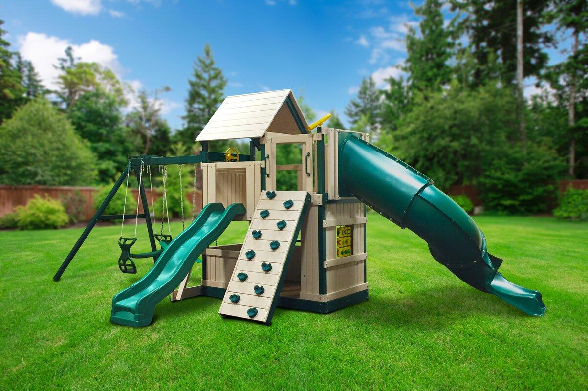 kidwise congo explorer tree house climber swing set u0026 reviews