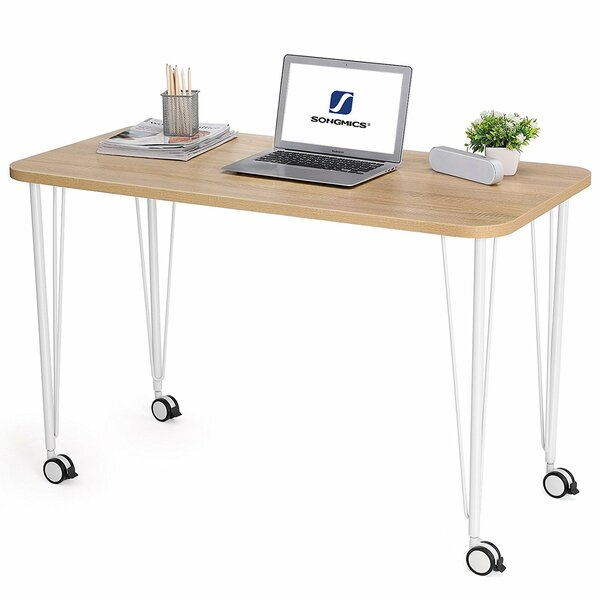 Laskowski Mobile Writing Desk with Thickened Tabletop by Wrought Studio
