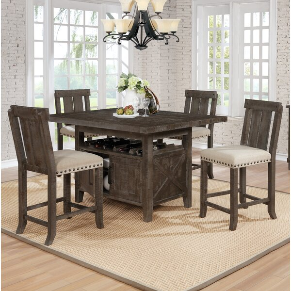 Modern Sevier 5 Piece Counter Height Dining Set By Gracie Oaks 2019 Coupon