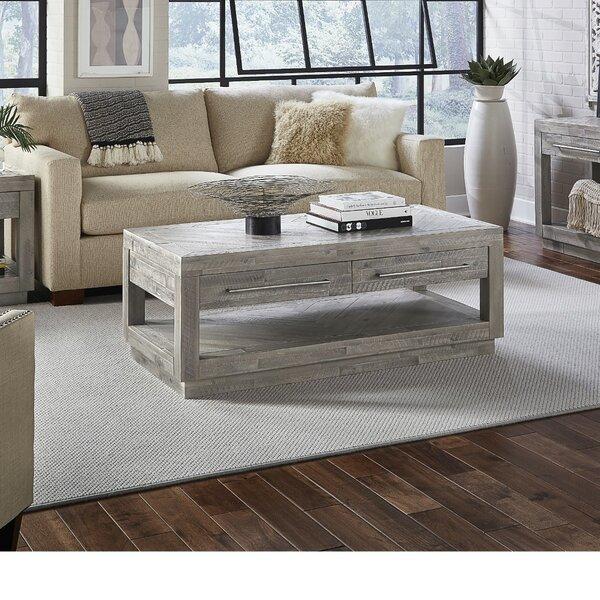 Mayview 2 Drawer And Bottom Shelf Coffee Table With Storage By Brayden Studio