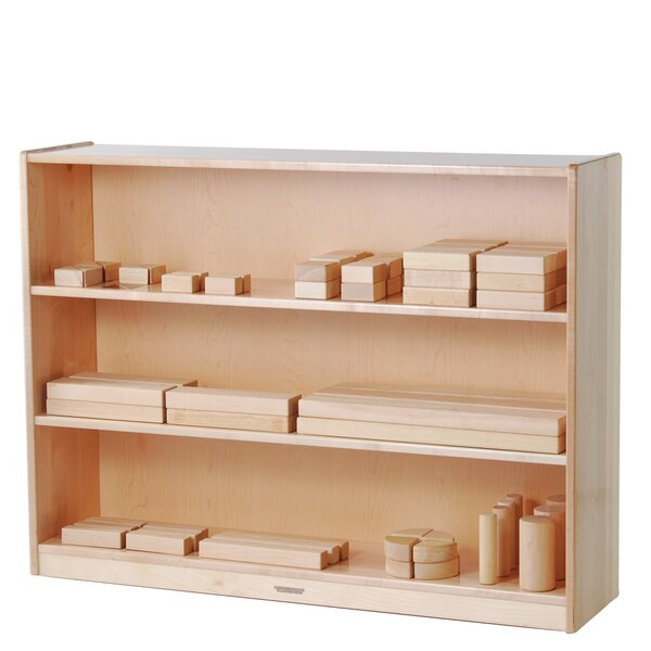 3 Compartment Shelving Unit with Casters by Constructive Playthings