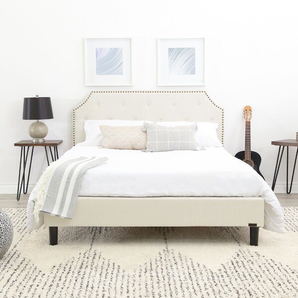 Finney Upholstered Platform Bed by Alcott Hill
