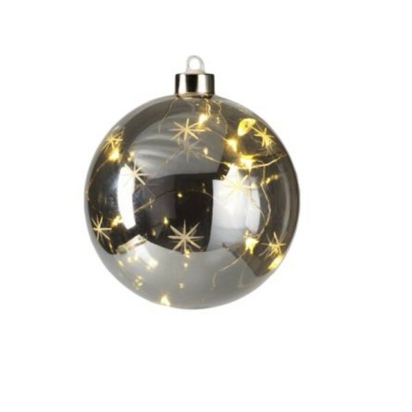 Smoke Star Design LED Ball Ornament (Set of 4) by The Holiday Aisle