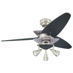 Propeller ceiling fans youll love wayfair 42 bello 3 reversible blade ceiling fan aloadofball Image collections