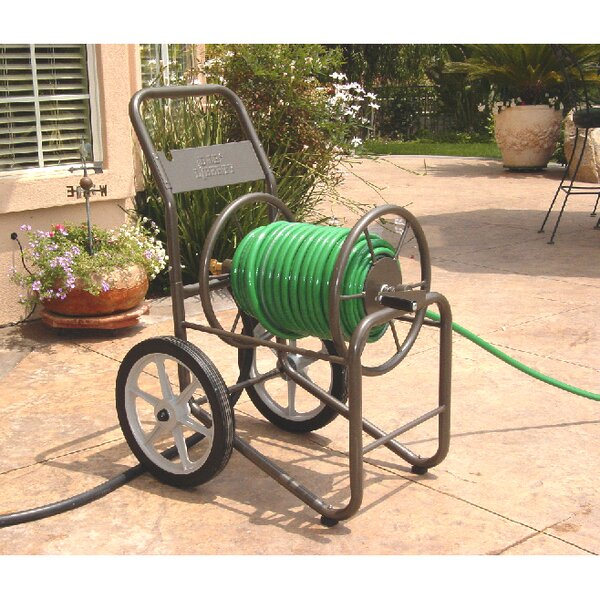 Liberty Garden Two-Wheel Metal Hose Reel Cart by Desert Steel