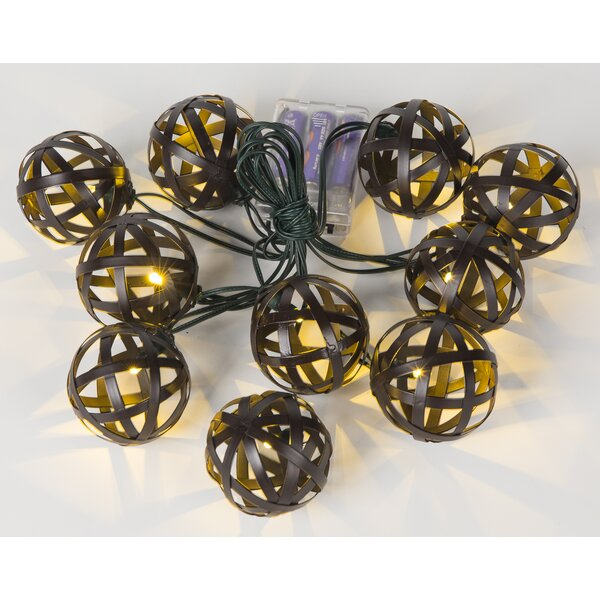 Metal Balls 10-Light Globe String Lights by Winsome House