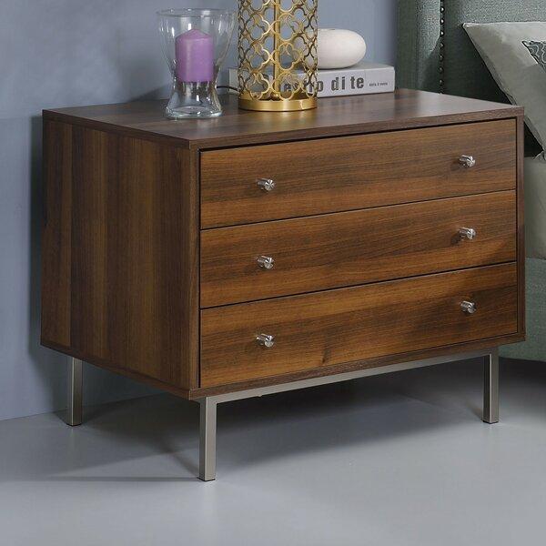 Trinidad Wooden 3 Drawer Nightstand by Orren Ellis