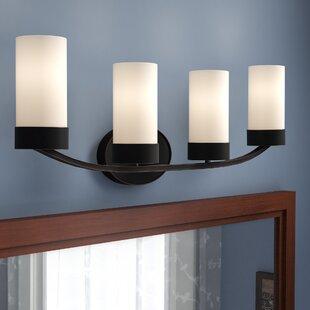 Best Reviews Sanderson 4-Light Vanity Light By Andover Mills