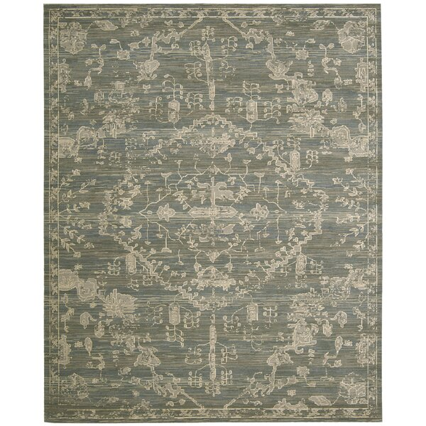 Eidelweiss Blue Medallion Area Rug by Darby Home Co
