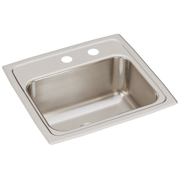 Lustertone 17 L x 16 W Drop-In Kitchen Sink