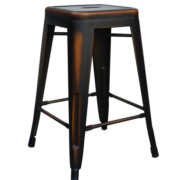 Emig 24 Bar Stool (Set of 4) by 17 Stories