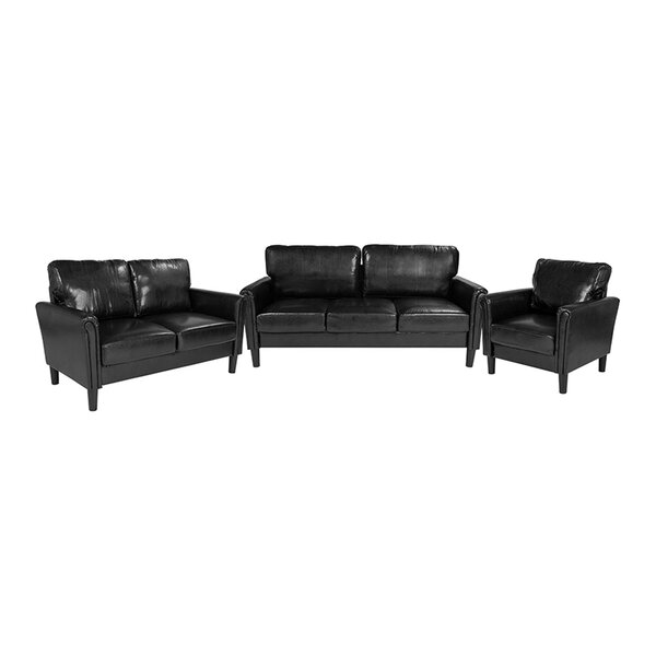 Soukup 3 Piece Upholstered Living Room Set by Winston Porter