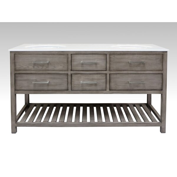 Hettinger 60 Double Bathroom Vanity Set by Laurel Foundry Modern Farmhouse