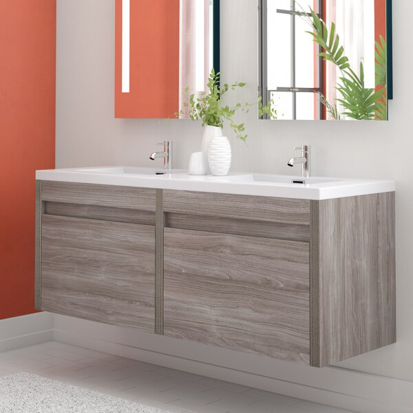 Rosas 59 Double Bathroom Vanity Set by Wrought Studio