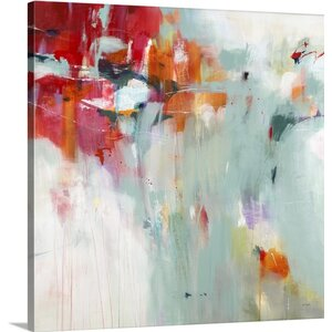 'Recollections of Red' by Jill Martin Painting Print on Wrapped Canvas by Great Big Canvas