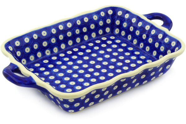 Rectangular Non-Stick Baking and Roasting Dish with Handle by Polmedia