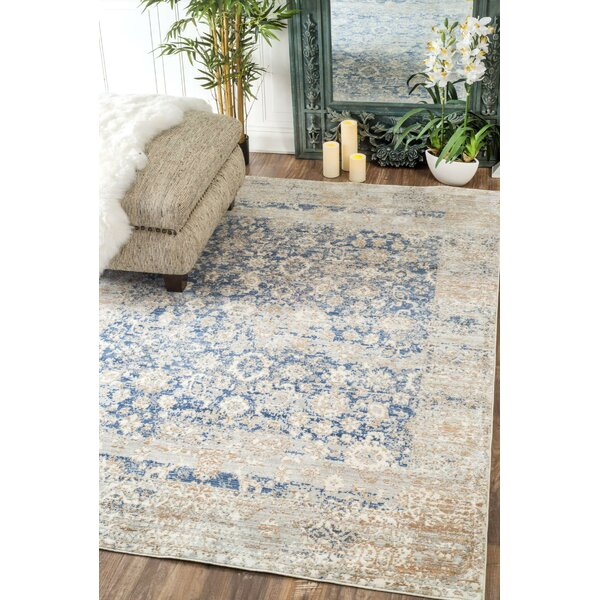 Moselle Muted Floral Blue Area Rug by One Allium Way