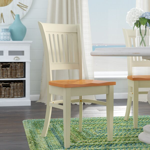 Creighton Solid Wood Dining Chair (Set of 2) by Highland Dunes