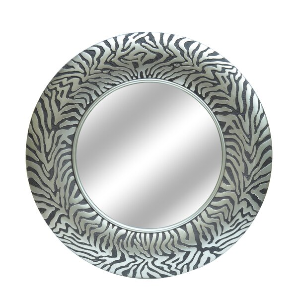Mehar Round Coral Wall Mirror by Bloomsbury Market