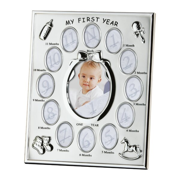 Baby Steps Thirteen Opening Silverplated Picture Frame by Prinz