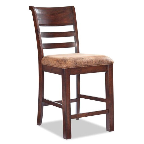 Alexandria Ladder Back Barstool with Cushion by Loon Peak