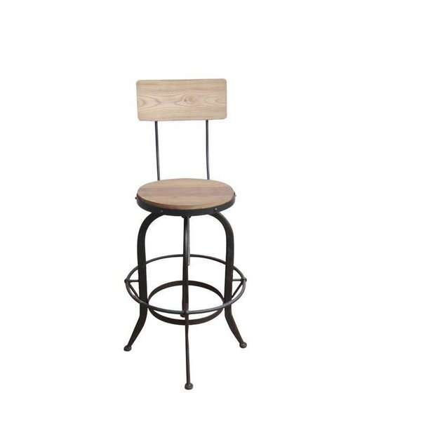 Lansdown Adjustable Height Swiel Bar Stool by Gracie Oaks