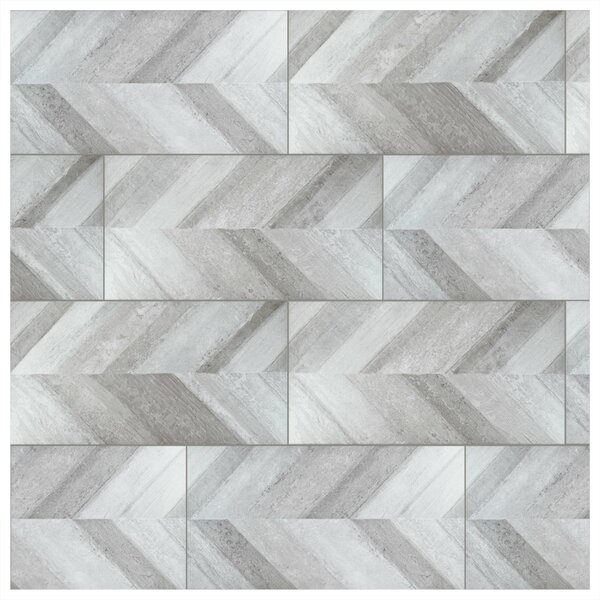 Aetolia 18 x 35 Porcelain Wood Look in Gray by EliteTile