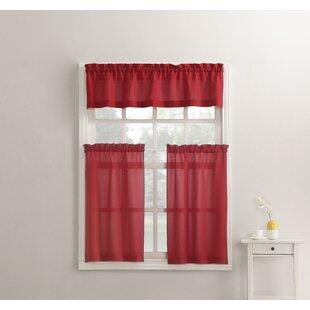 Red Gingham Kitchen Curtains | Wayfair