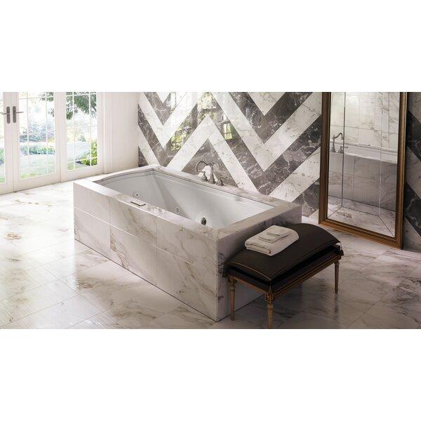Fuzion Illuma Right-Hand 72 x 36 Drop-In Salon Bathtub by Jacuzzi®