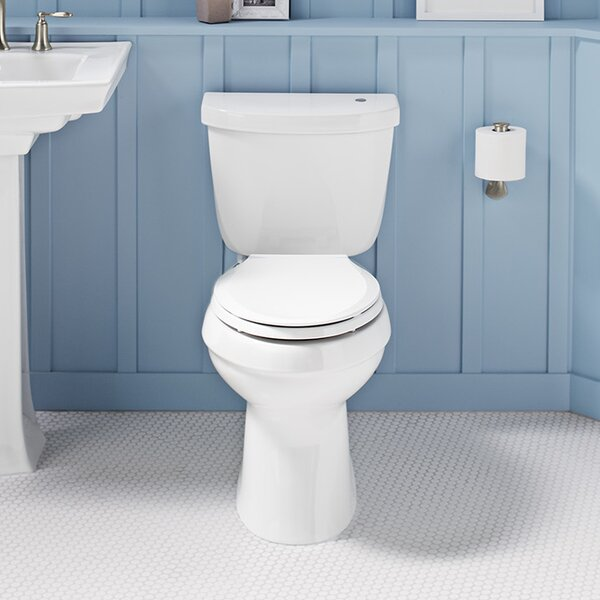 Cimarron Impressions 2 Piece Touchless Toilet with Aquapiston Flushing Technology by Kohler