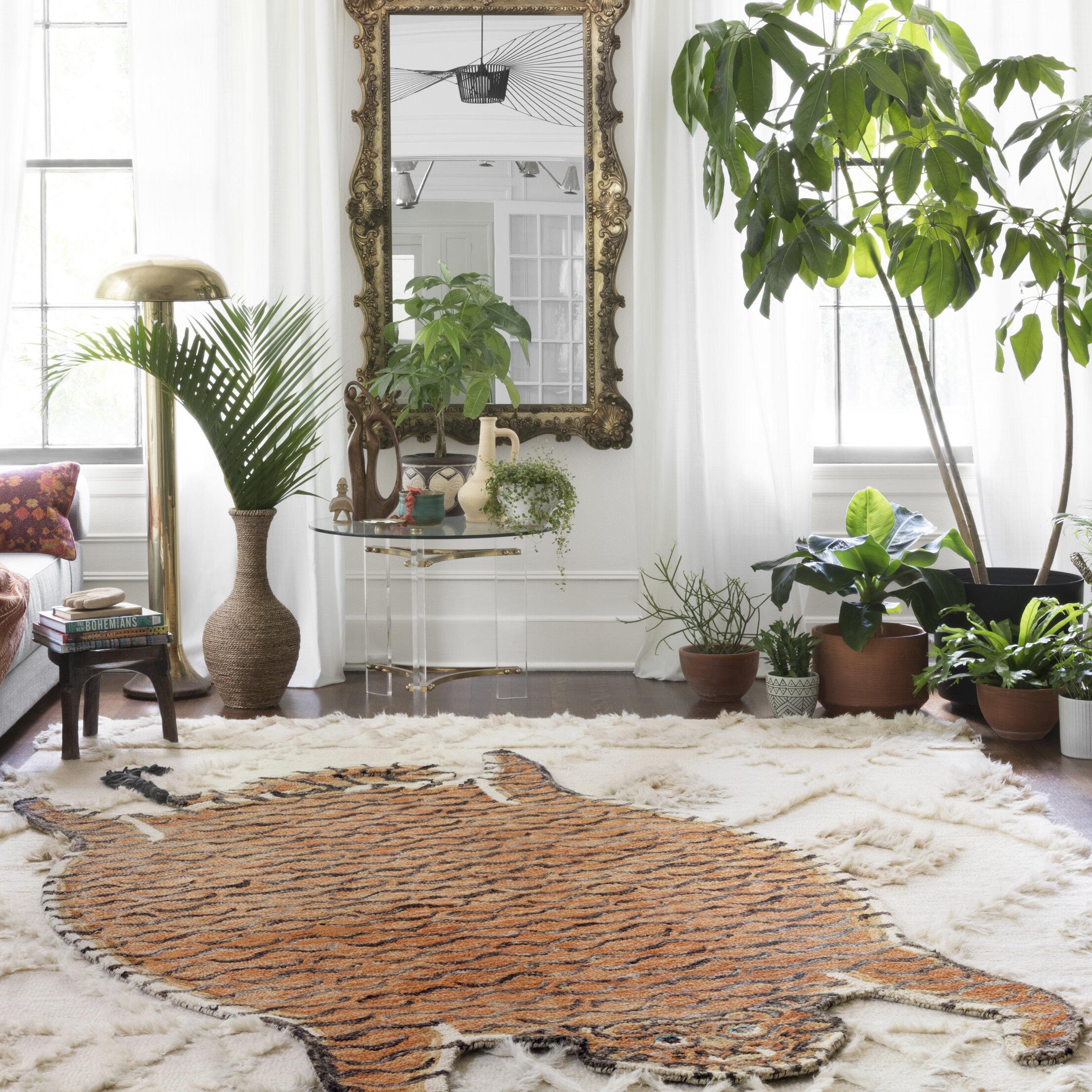 Justina Blakeney X Loloi Feroz Hand Hooked Wool Brown Area Rug Reviews Wayfair