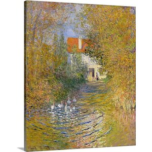 'The Duck Pond, 1874' by Claude Monet Painting Print on Canvas by Great Big Canvas