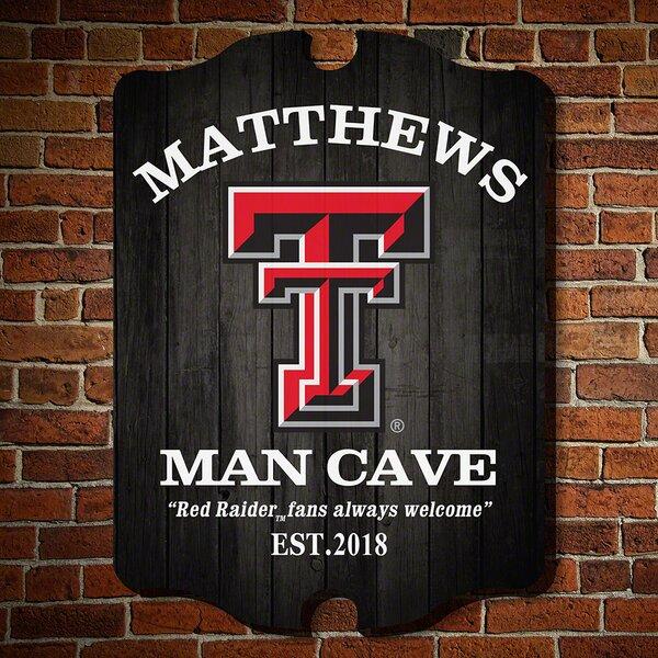 NCAA Man Cave Sign Wall Décor by Home Wet Bar