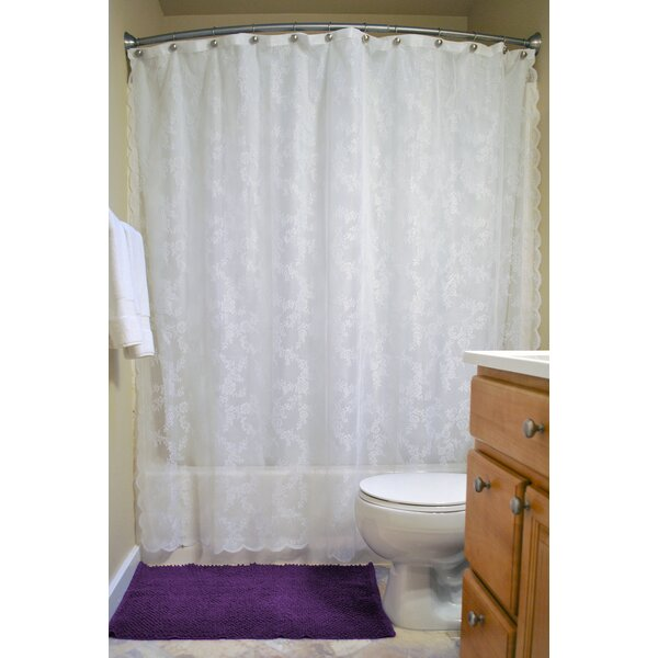 Andrade Lace Shower Curtain by August Grove