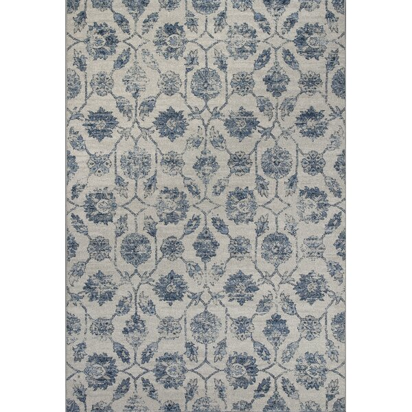 Laurita Ivory/Blue Area Rug by Charlton Home