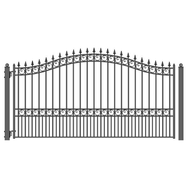 London Single Swing Driveway Gate by ALEKO