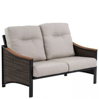 Brazo Woven Loveseat with Cushions by Tropitone