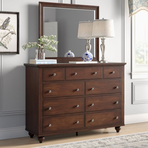Garrick 9 Drawer Dresser with Mirror by Birch Lane™ Heritage