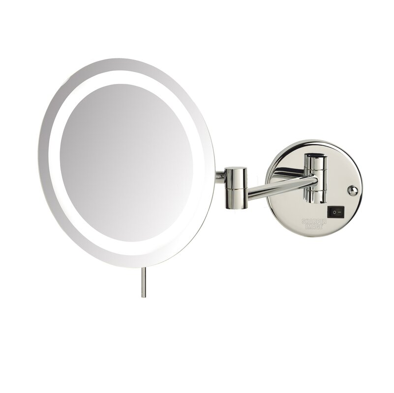 Led 8x magnifying wall mount makeup mirror reviews allmodern led 8x magnifying wall mount makeup mirror aloadofball Image collections