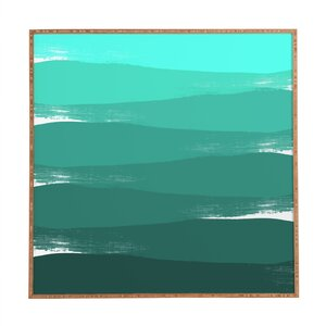 Green Ombre Framed Painting Print by East Urban Home