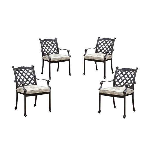 Caraballo Patio Dining Chair With Cushion (Set Of 4) By Darby Home Co
